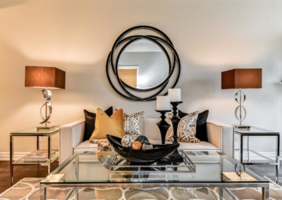 Living Room - Mirror - Home Staging - Luxury - Whitby