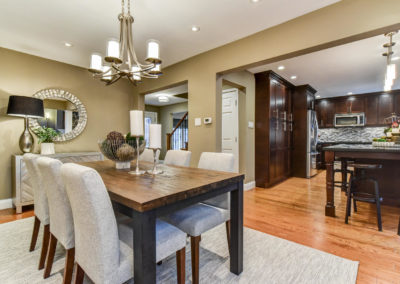 Dining Room - Wood Table - Home Staging - Ajax - Durham Region