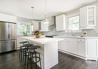 White Kitchen - Home Staging - Port Perry