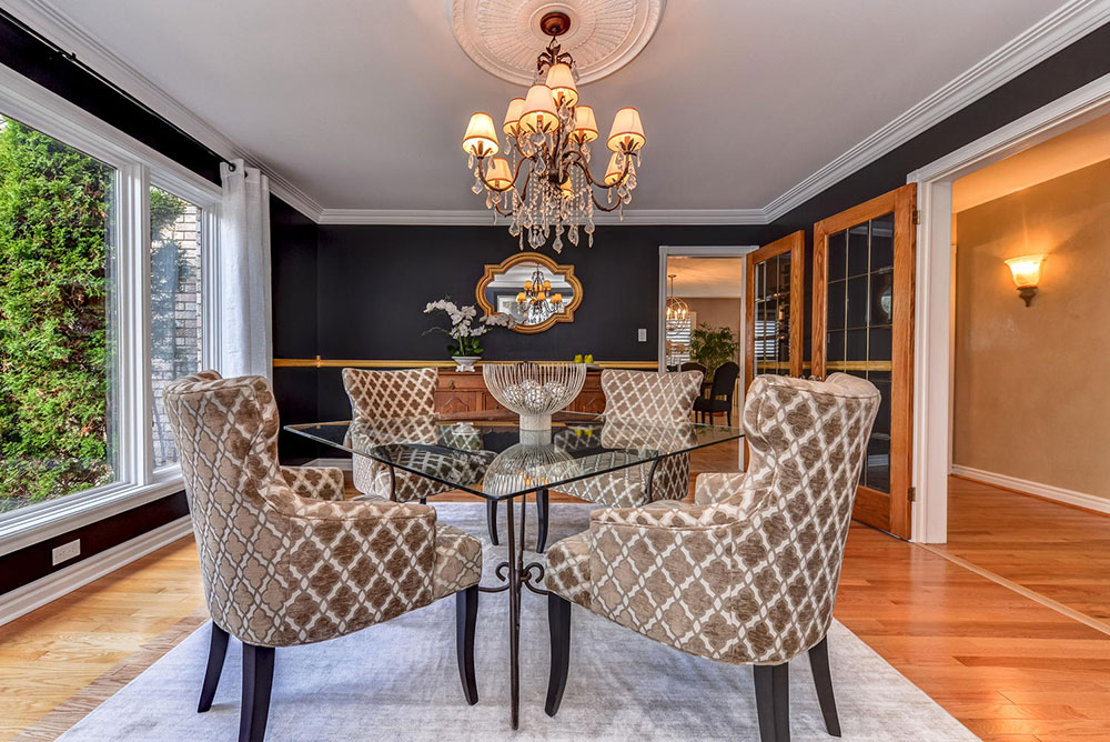Dining Room - Black Paint - Home Staging - Ajax