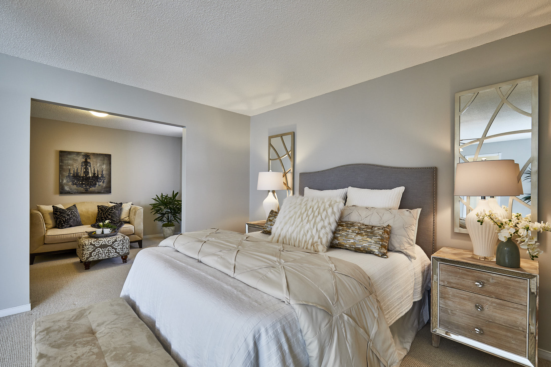 Luxury Master Bedroom - Sitting Room - Home Staging - Durham Region