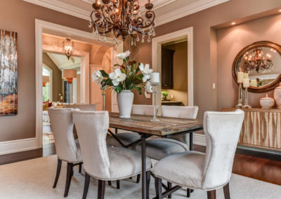 Luxury Dining Room - Reclaimed Wood Table - Home Staging - Ajax