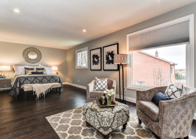 Master Bedroom - Sitting Room - Home Staging - Durham Region - Whitby, Oshawa, Pickering, Ajax, Bowmanville