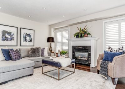Living Room - Home Staged - Oshawa Pickering - Courtice - Bowmanville