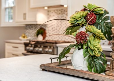 Kitchen Island Counter Decor - Succulent Vignette - Home Staging