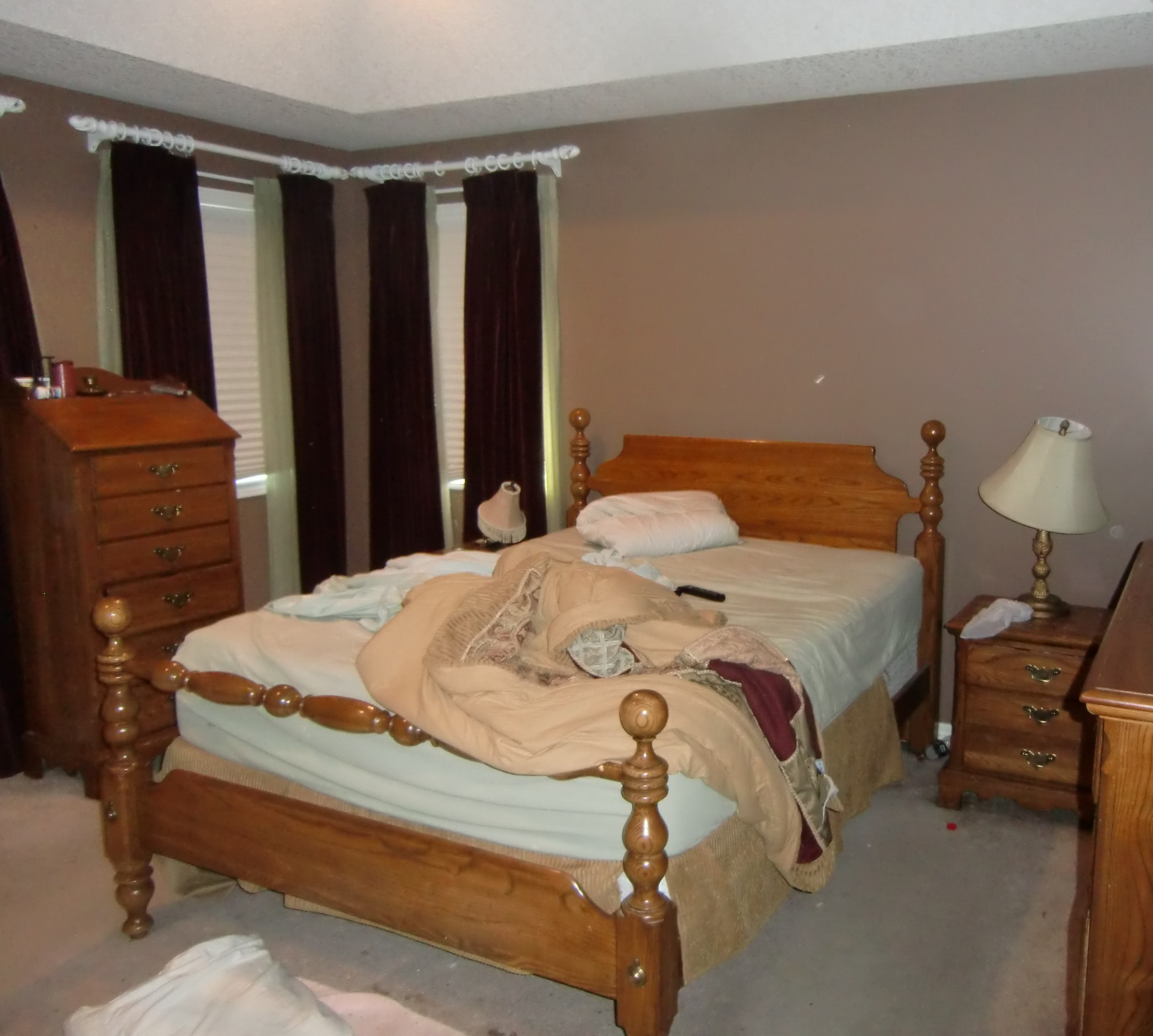 Master Bedroom - before staging - Port Perry - Durham Region