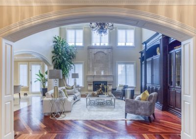 Luxury home staging - Living Room - Whitby