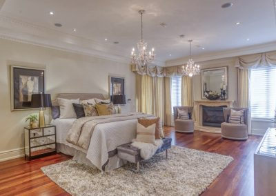 Luxury home staging - Master Bedroom - Whitby