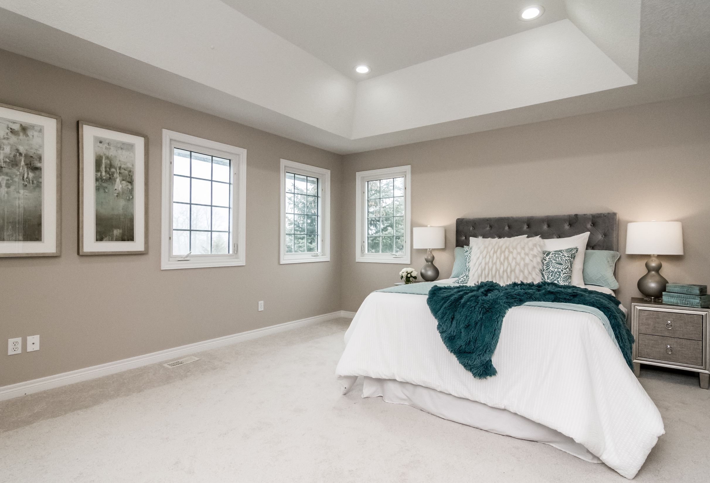 Master Bedroom - After - Luxury Home Staging - Port Perry - Durham Region
