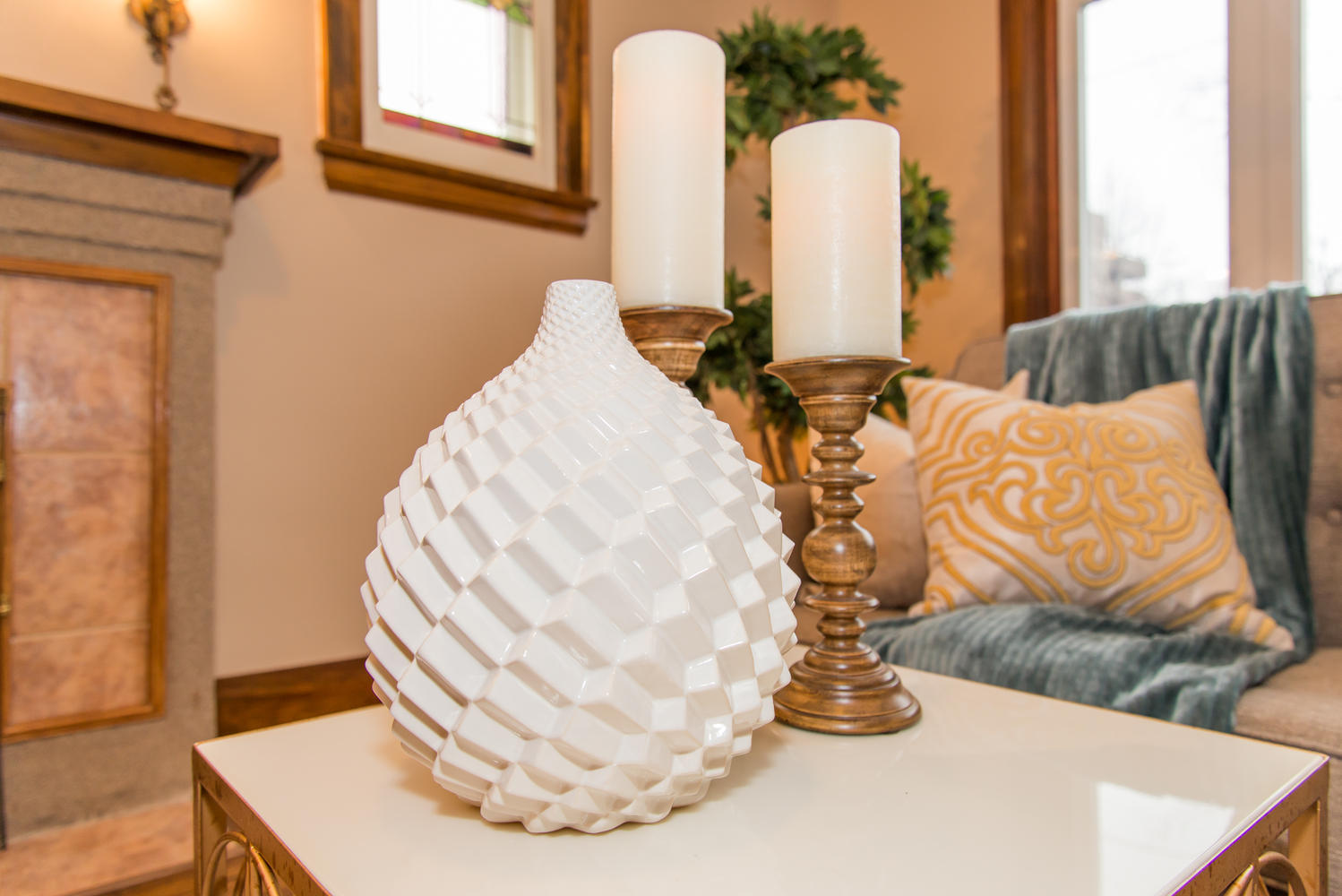 Vase & Candles - Home Staging Whitby