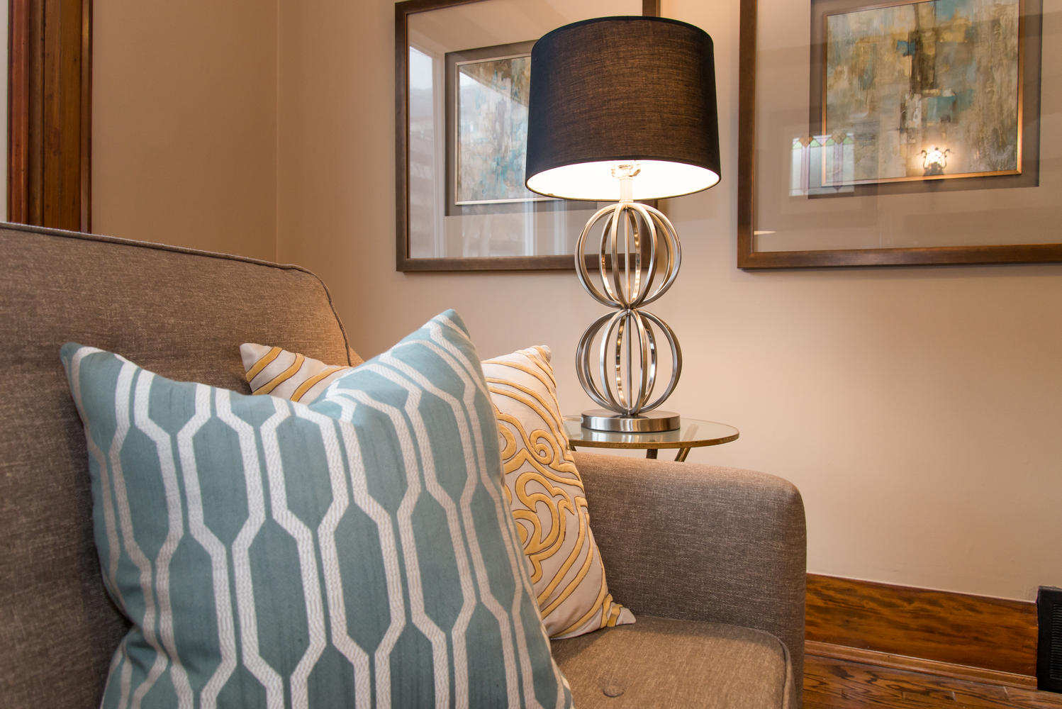 Contemporary Lamp - Home Staging in Bowmanville, Oshawa, Whitby