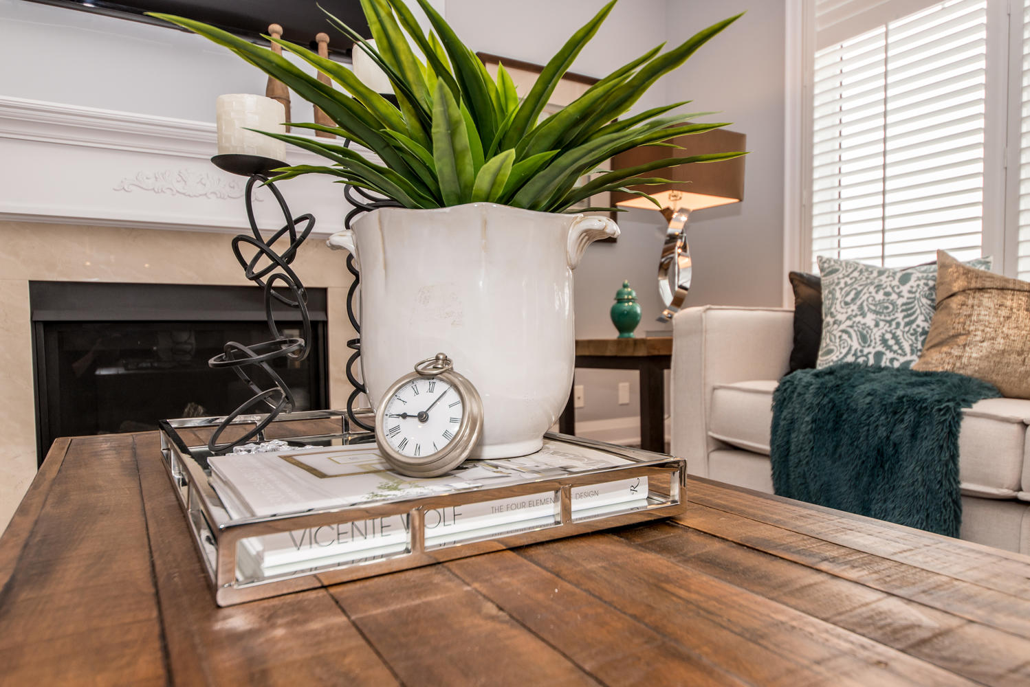 Coffee Table Top Display - Durham Region Home Stagiing
